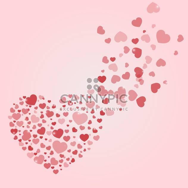 Vektor-Hintergrund mit Herzen zum Valentinstag - Free vector #134817