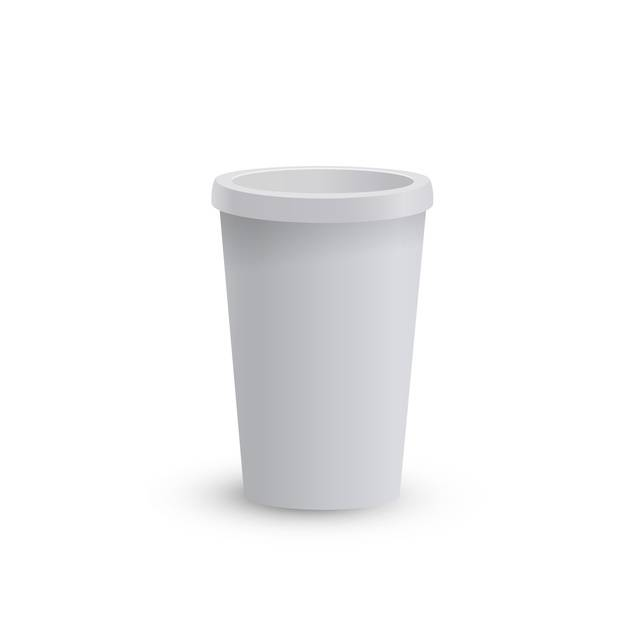 blank cardboard coffee cup - бесплатный vector #134857