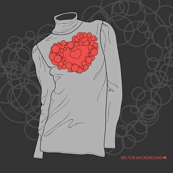 illustration of blouse with valentine heart - бесплатный vector #134907