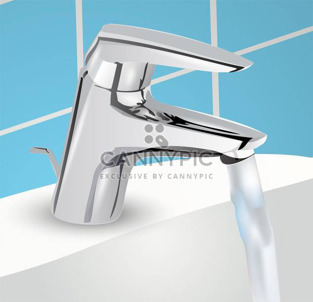 fließendes Wasser im Becken-Vektor-illustration - Free vector #134947