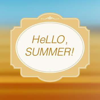 hello summer card vintage background - vector gratuit #134987
