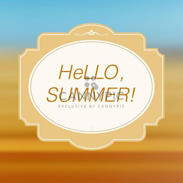 Hallo Sommer Karte Jahrgang background - Kostenloses vector #134987