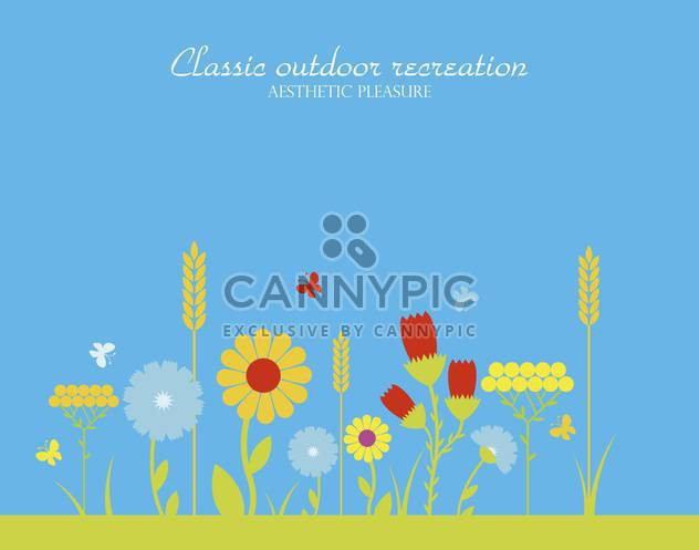 vector season of flowering herbs - Free vector #135007