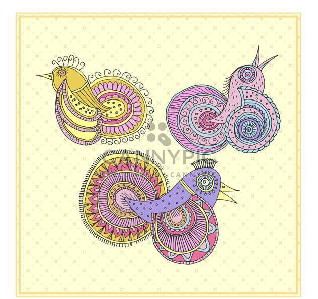 fairy magic birds in ethnic style - Free vector #135017