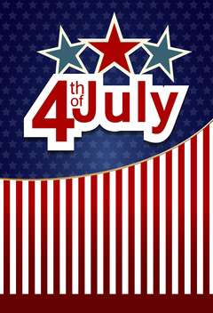 usa independence day card with flag background - vector gratuit #135067
