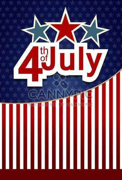 usa independence day card with flag background - Free vector #135067
