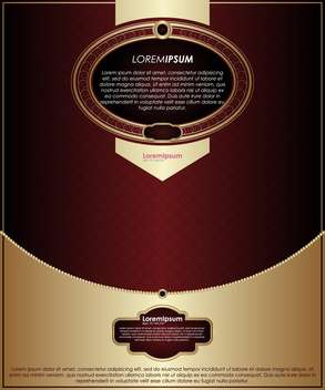 vintage background with gold and red template - vector #135097 gratis