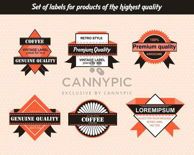 set of labels for products of highest quality - Free vector #135137