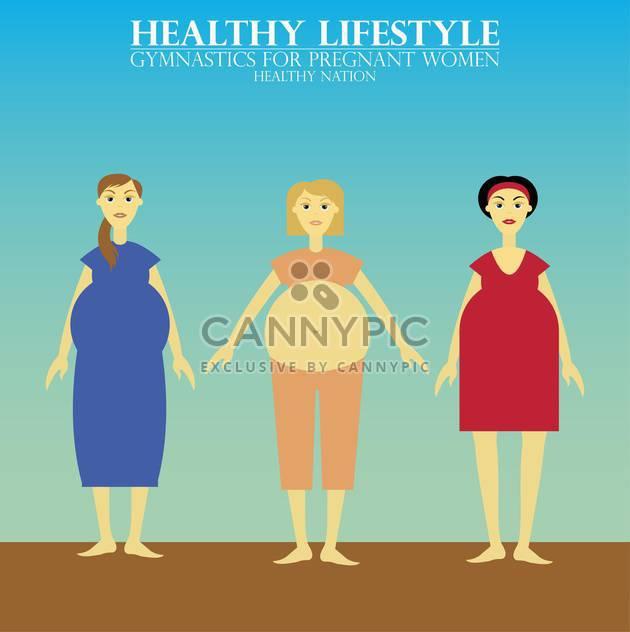 Vektor-Gymnastik für gesunde Schwangere Frauen - Kostenloses vector #135157