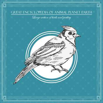 bird illustration for great encyclopedia of animals - vector #135167 gratis