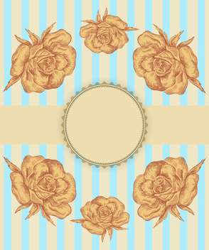 vector flower shop vintage banner background - vector gratuit #135247