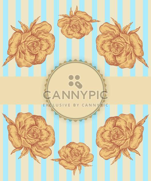 vector flower shop vintage banner background - Free vector #135247