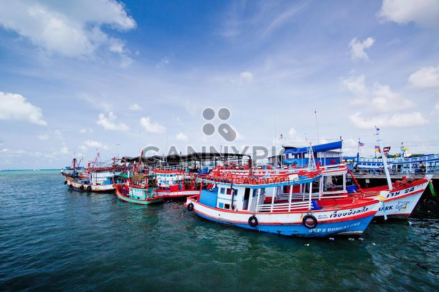 Fishing boats in the port - Free image #136327