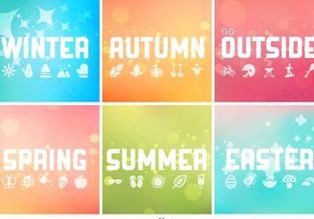 Vector Seasonal Backgrounds Collection - Kostenloses vector #138657