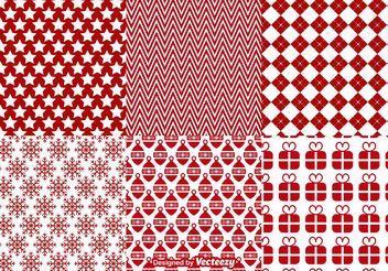 Christmas Vector Patterns Backgrounds - Free vector #138707