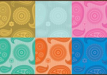 Paisley Patterns - Free vector #138717