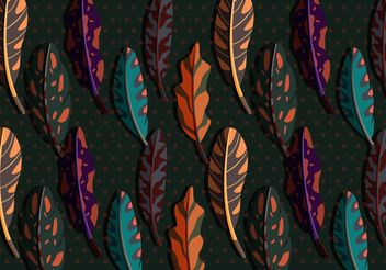 Vector Boho Feather Illustration - Free vector #138767
