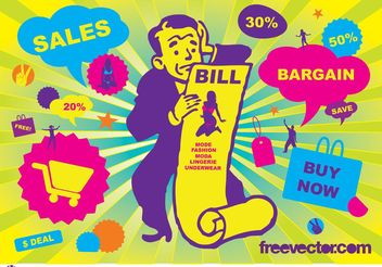 Sales Vector Graphics - vector gratuit #138867
