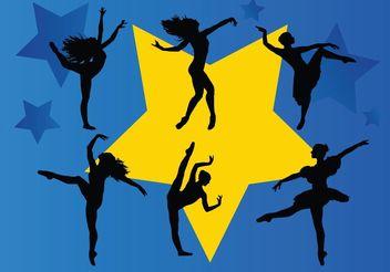 Dancing Stars - vector gratuit #138887