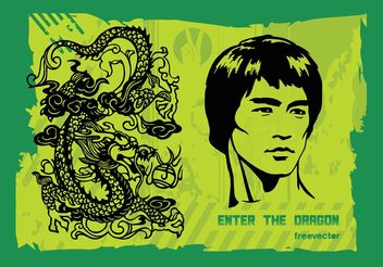 Enter the Dragon - vector gratuit #138897