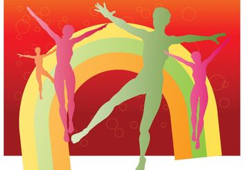 Jumping Girls - Free vector #138907