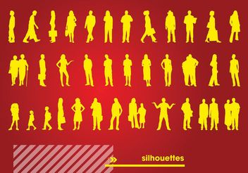 Free Silhouettes Vectors - Free vector #138927