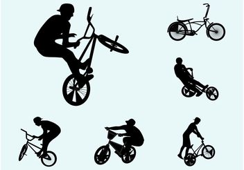 Biker Silhouettes - Free vector #138957