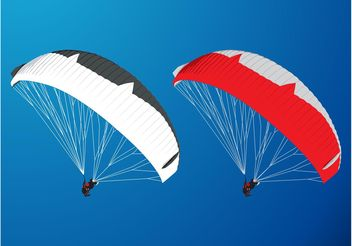 Paragliding Graphics - Free vector #138977