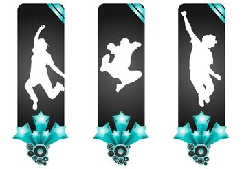 Banners With Jumping People - vector gratuit #139017