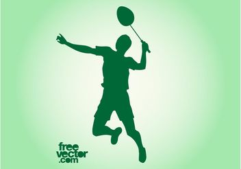 Vector Badminton Player - Free vector #139027
