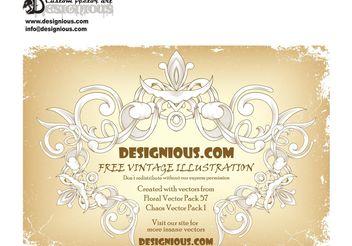 Free vintage floral frame - Kostenloses vector #139487