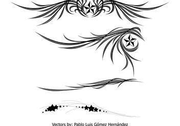 Wings and Stars Ornament - Free vector #139537