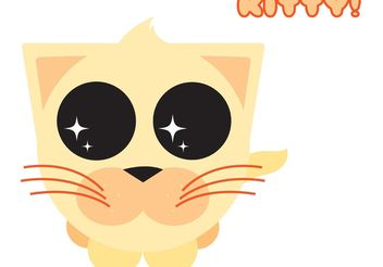 Cute Orange Kitty - Free vector #139647
