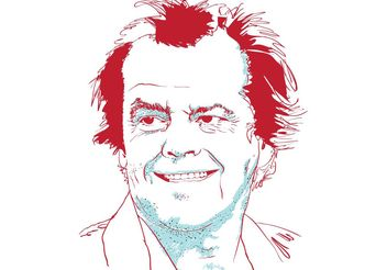 Portrait of Jack Nicholson - Free vector #139667