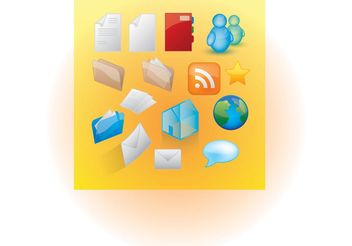 Web Icon Vectors - Free vector #139757