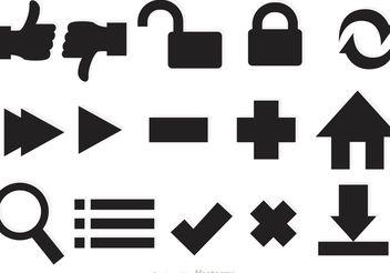 Web Icons Vectors - Free vector #139787