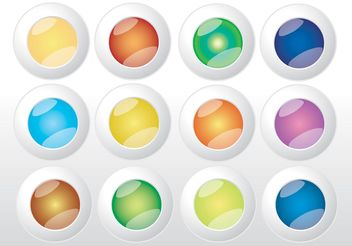 Colorful Web Buttons Vectors - vector gratuit(e) #139817