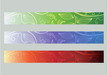Floral Banners - Kostenloses vector #139847