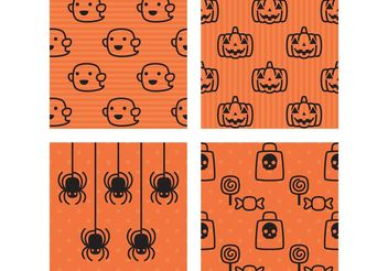 Halloween Cute Patterns - Free vector #139957
