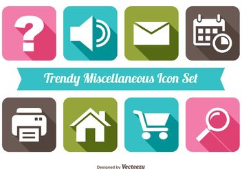 Trendy Miscellaneous Icon Set - vector #139977 gratis