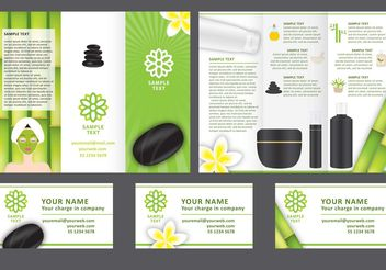 Spa Tri Fold Brochure Vector Template - бесплатный vector #140017