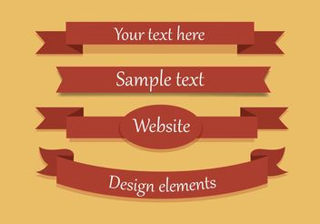 Free Vector Ribbon Set - Free vector #140117