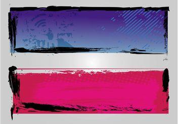 Graffiti Banners - Free vector #140137