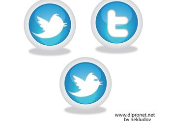 Icons Twitter Vector Beta1 - Free vector #140167