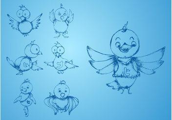 Twitter Birds - бесплатный vector #140227