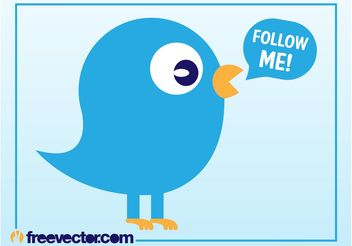 Twitter Bird Vector - Free vector #140237