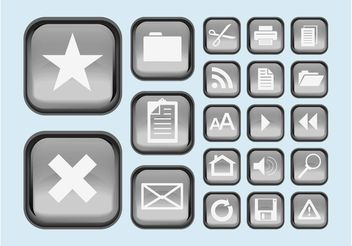 Interface Buttons Icons - vector gratuit #140247