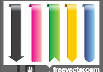 Bookmarks Set - Kostenloses vector #140287