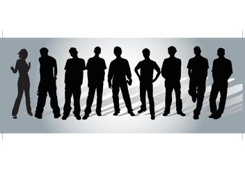 People Vectors - vector gratuit #140367