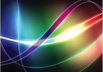 Colorful Swirls Wallpaper - vector gratuit #140387